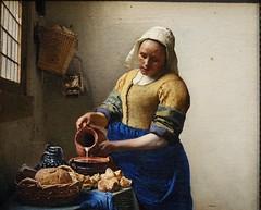 Vermeer, The Milkmaid, detail, ca. 1660; Rijksmuseum, Amsterdam (2)