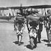 Flight Cadets walk across the flightline at Rankin Field towards their PT-17s. Photo // USAAF