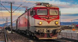 EA 231 RO-SNTFC a Depoului CFR Brașov surprinsă în Stația CFR DEVA la tracțiunea trenului internațional 347-2 Viena - București Nord, Județul Hunedoara - 03.01.2019 | by mihai.nicolae24