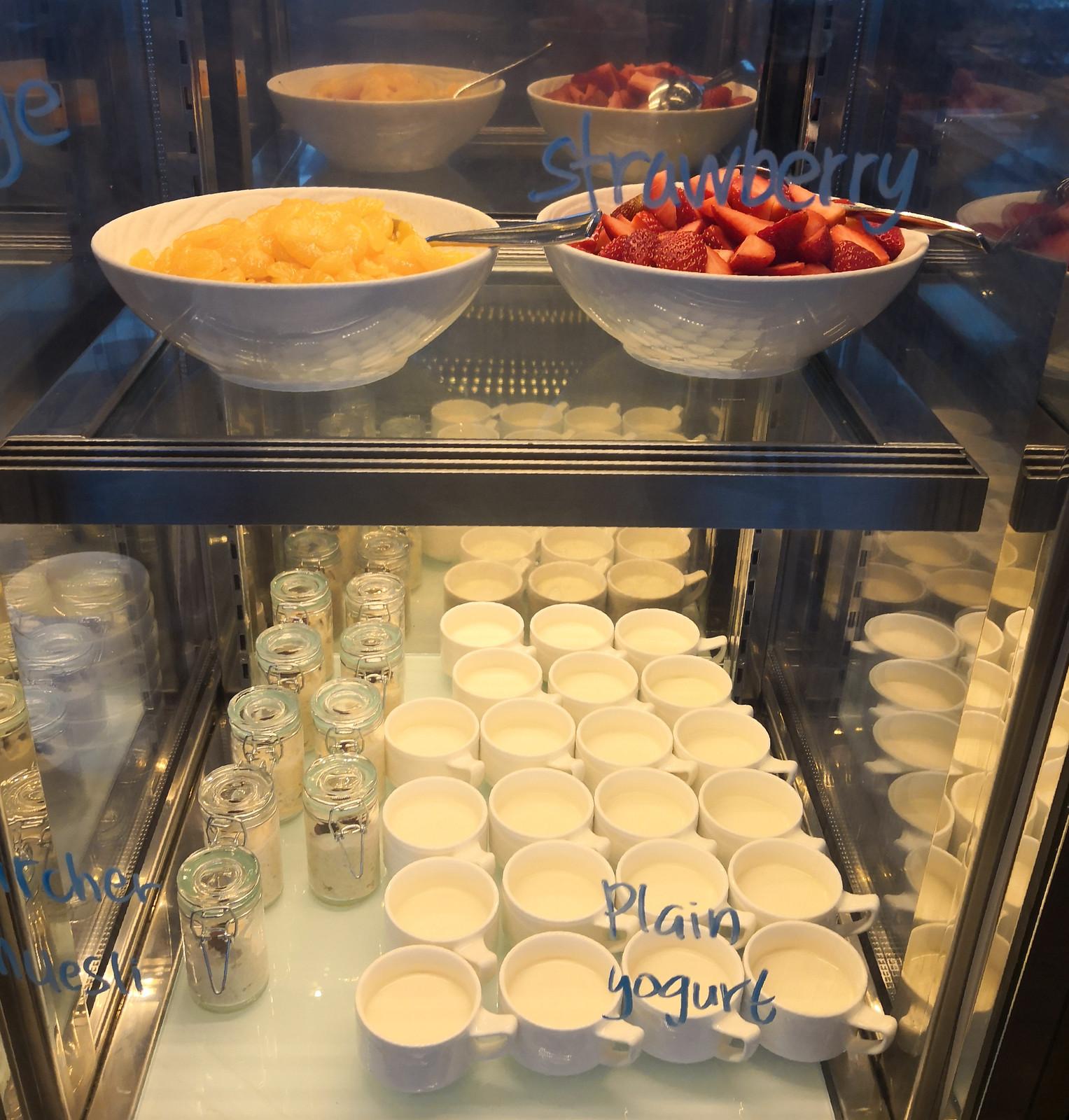 Yogurt and muesli with fruits
