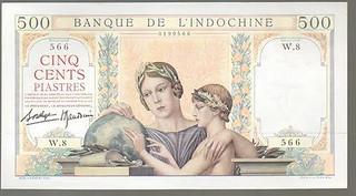 Banque De L'Indochine 500 Piastre face | by Numismatic Bibliomania Society