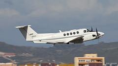 United States Air Force Beechcraft King Air C-12 Huron 76-0171 departing RAF Gibraltar/LXGB