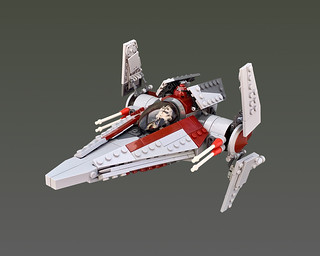Alpha-3 Nimbus-class V-wing starfighter | by -majortom-