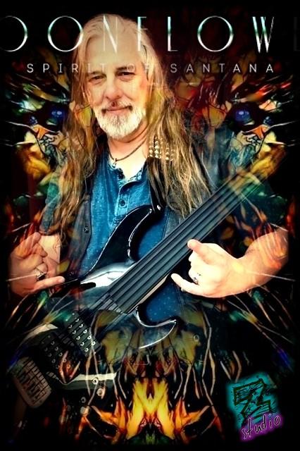 MOONFLOWER  Spirit of Santana  Bass guitarist
