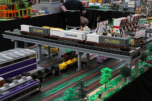 Lego model of the Qube operated Maryvale intermodal freight