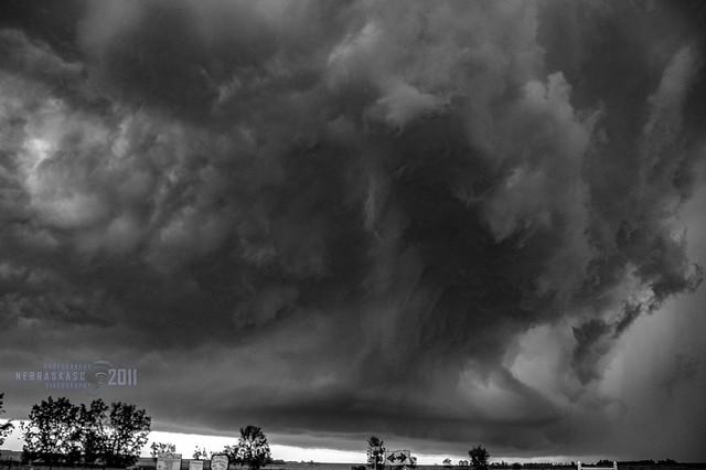 062011 - Supercells in Nebraska B&W 004 (Remastered)