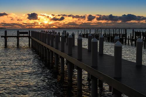 barnegatbay newjersey sunrise dawn waretown waretownnj pier
