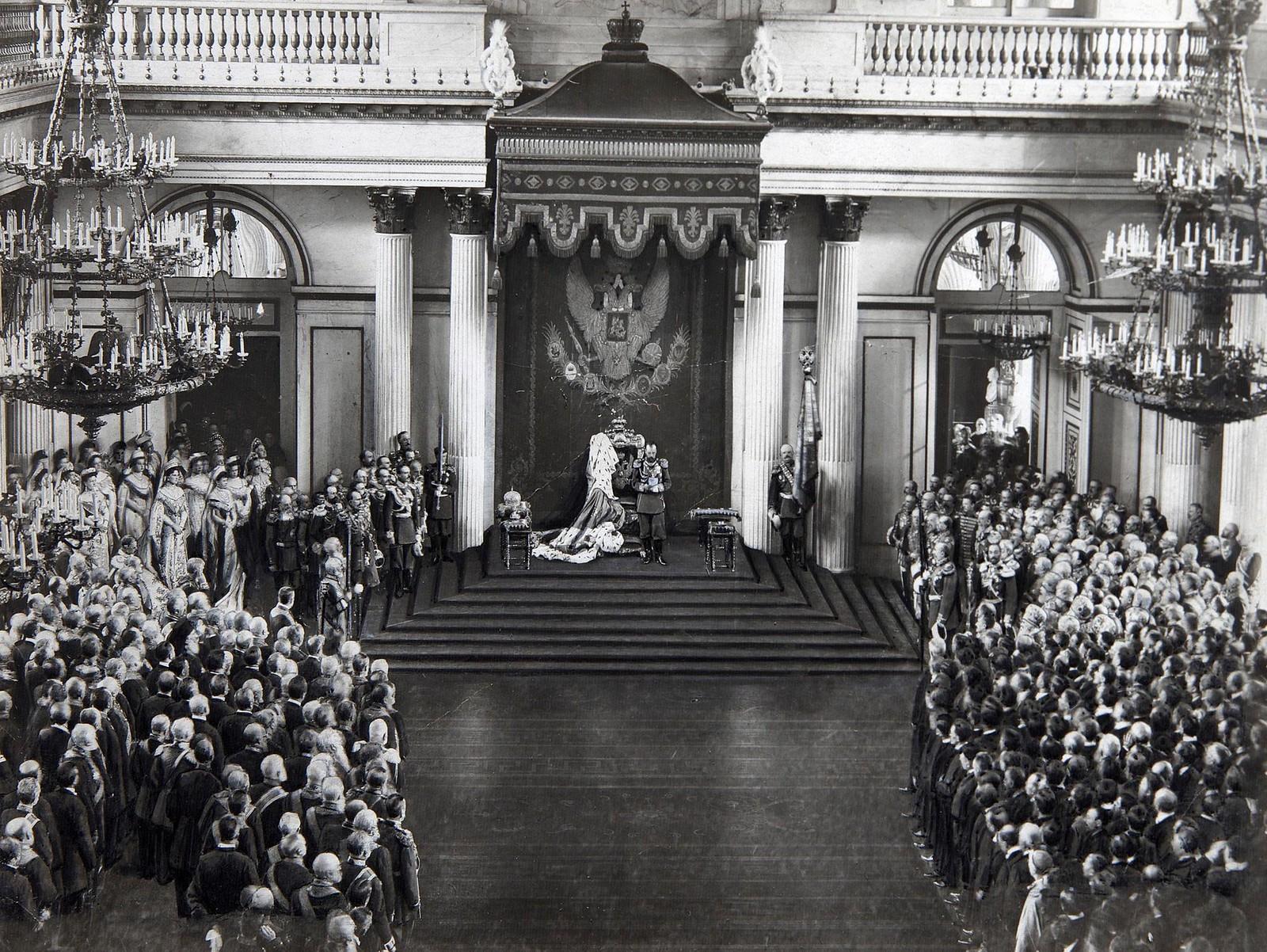1906. Тронная речь Николая II в Государственной думе, Санкт-Петербург, 27 апреля