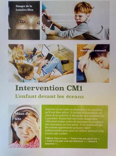 Sensibilisation aux dangers d'internet et des écrans en CM1