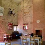 Inside the Final Whistle cafe at Cottam, Preston