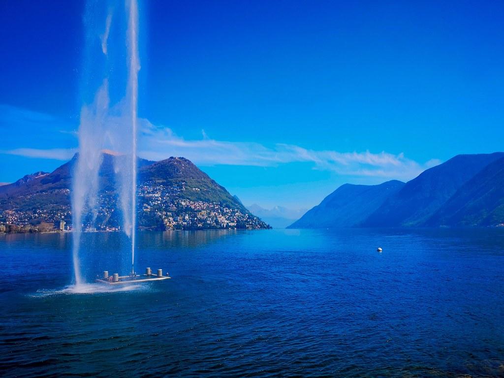 Lake Lugano in Switzerland.