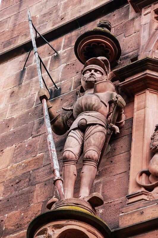 海德堡城堡門雕像 2