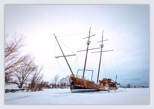 2019 ice jordanharbour jordanstationshipwreck lagrandehermine lakeontario pirateship winter imga9961e canon5dmarkiv