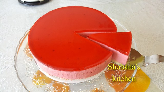 Raspberry mousse cake / Mousse cake / Valentine's day special / Valentine's day dessert