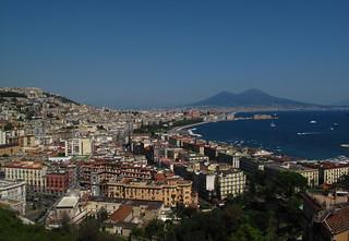 View from Mergellina at Napoli & Vesuvio