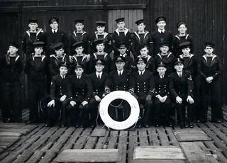 VINTAGE NAVY  HMS BOYNE   INFORMATION WELCOME .  SEE BELOW.
