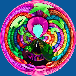 Colorful Circle Created in Photoshop Elements
