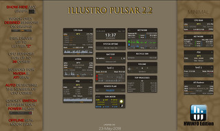 illustro Pulsar 2.2 HWiNFO Edition Rainmeter - System monitoring tool