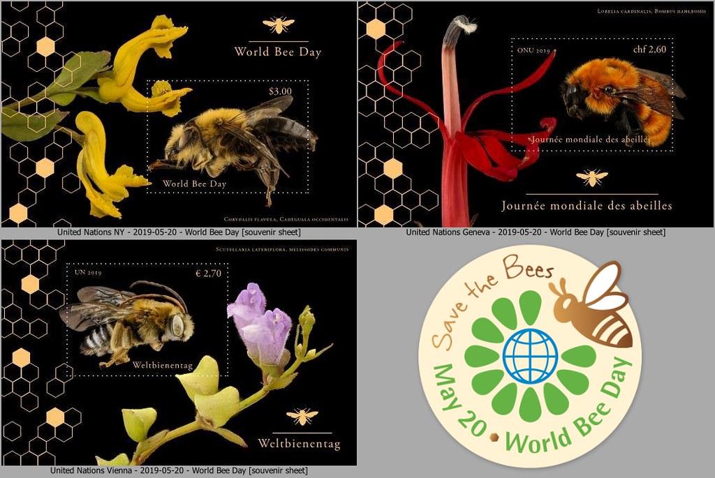 United Nations Postal Administration (New York/Geneva/Vienna) - World Bee Day (May 20, 2019)