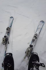Noženky hoří.... První letošní lyžovačka.