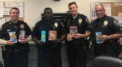 Girl Scouts Donates Cookies to Speedway Police Officers