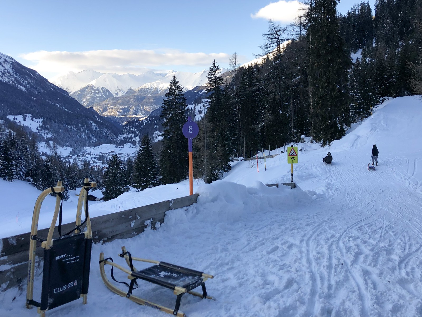 Schlitteln nach Bergün