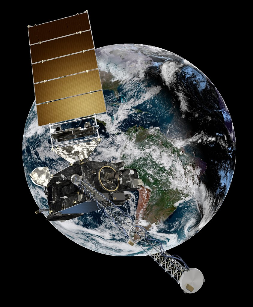 GOES-16/GOES East with Earth in Background