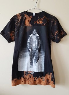 Splatter Bleached and Shredded Kanye West T Shirt Small | by shopthegasstation