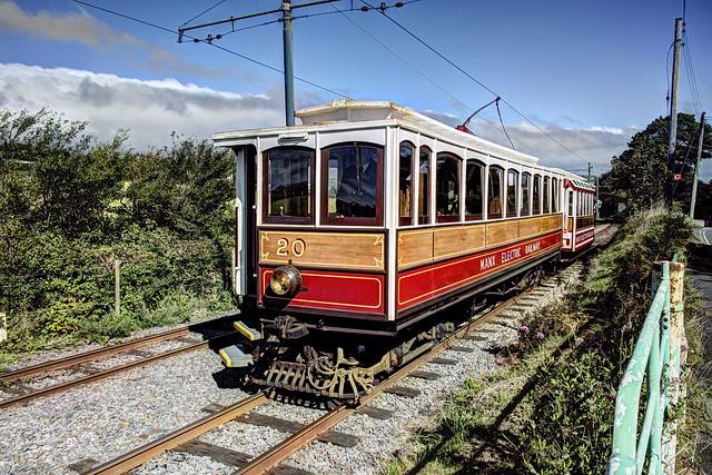 IM Isle of Man - Manx Electric Railway - MER 20 s/b south of Baldrine
