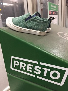 Green Presto card machine and green kids shoes | by Matthew Burpee