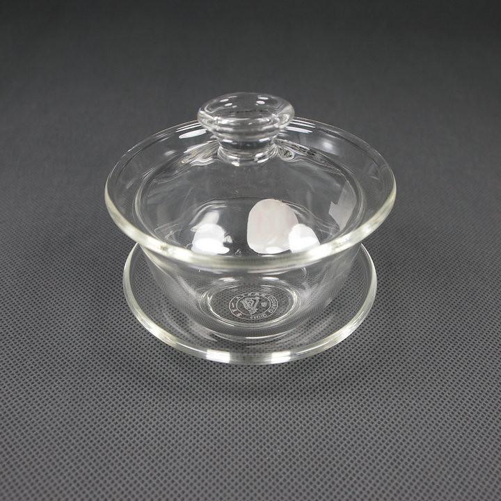 Glass Teaware Gaiwan with Capacity of 80ml, 120ml for China Gongfu Tea