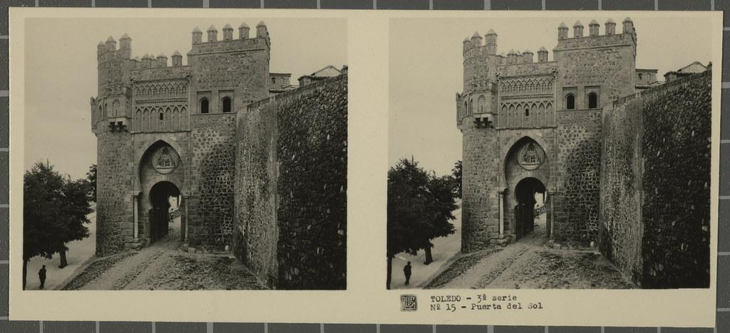 Puerta del Sol. Colección de fotografía estereoscópica Rellev © Ajuntament de Girona / Col·lecció Museu del Cinema - Tomàs Mallol