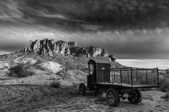 looking at Superstition Mountains