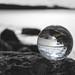 Reflections through a lens ball