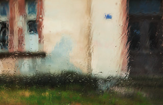 View Through Glass During Rain | by dejankrsmanovic