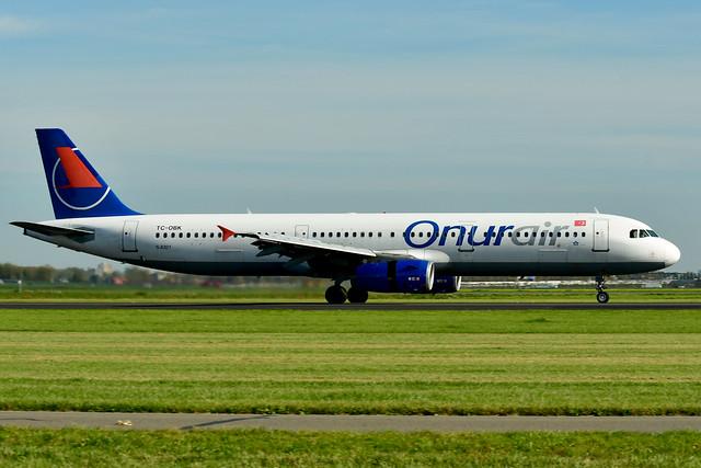 TC-OBK A321-231 cn 792 Onur Air 181012 Schiphol 1002
