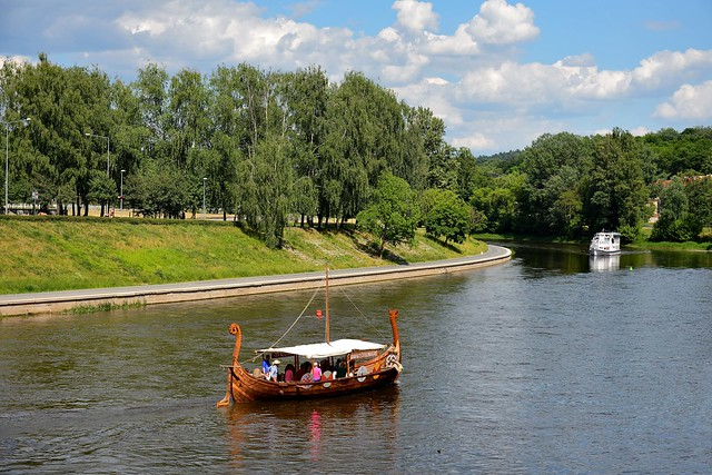 Vilnius / Néris River / The gondole