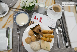 My breakfast plate with coffee and fresh soy milk | by thewanderingeater