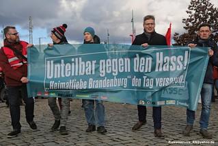 2019.02.09 Eberswalde - Buendnis Linkes Buendnis Unteilbar gegen rechtes Netzwerk Heimatliebe Brandenburg (1)