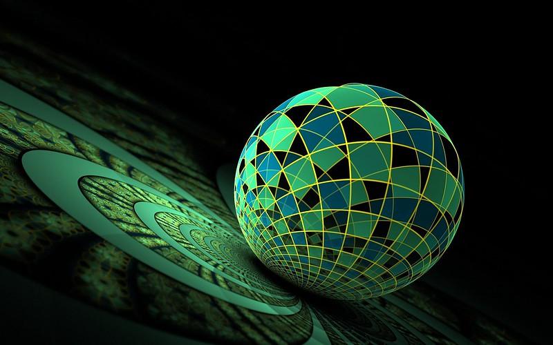 Обои шар, поверхность, зеленый картинки на рабочий стол, фото скачать бесплатно