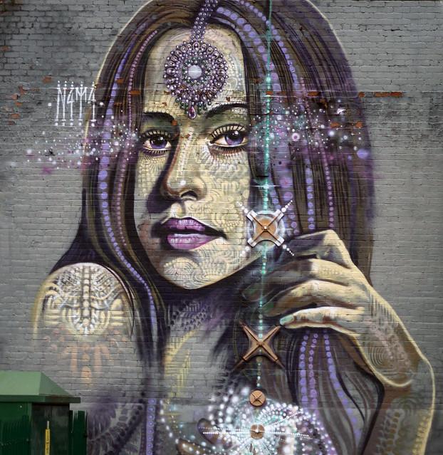 Wall Art Woman outside Digbeth