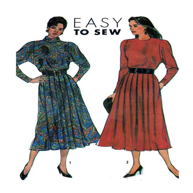 Simplicity 9408 dress sewing pattern
