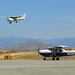 A Civil Air Patrol Cessna 182 airplane assigned to California Wing and its aircrew prepare to take off, Sat., April 22, 2017, from Riverside Municipal Airport in Riverside, California, during a U.S. Air Force-evaluated operational exercise of California Wing. The exercise tested multiple emergency services mission sets including missing aircraft search, ground search, disaster response, and aerial photography. Photo // Lt. Col. Crystal Housman, Civil Air Patrol