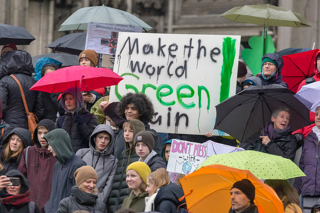 'Make the world Green again!' sign at Fridays For Future
