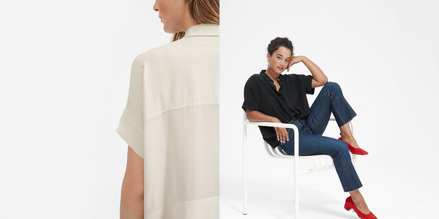 everlane short sleeve square shirt