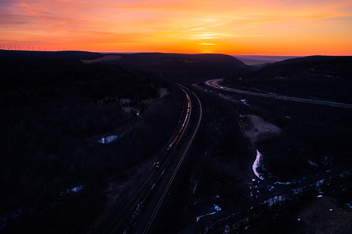drone ns ns17g nspittsburghline norfolksouthern norfolksouthernpittsburghline sunrise aerial aerialphotography beautiful dronephotography railroad sun trains