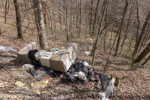 Illegal dump, The Old Mill Cave Cleanup, White County, Tennessee 1