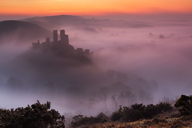 Corfe Castle Sunrise - Dorset