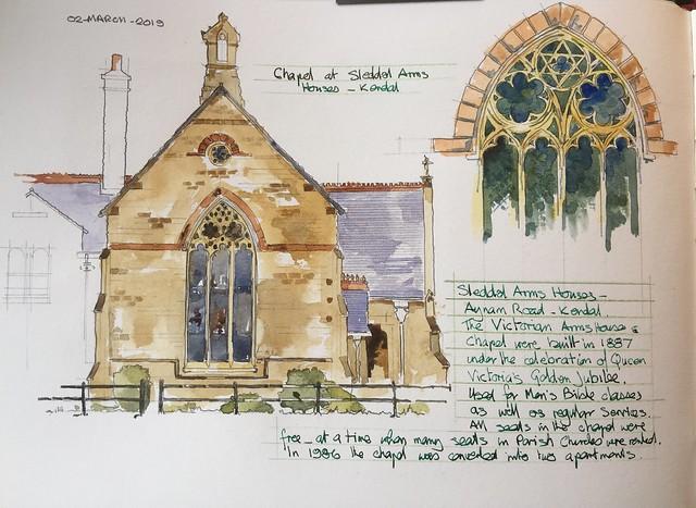 Chapel at Sleddal Alms Houses Kendal