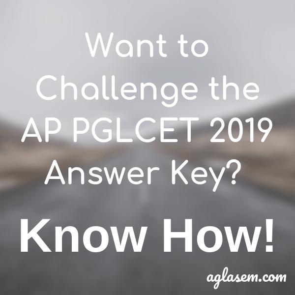 AP PGLCET 2019 Answer Key - Check here!